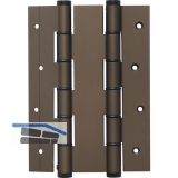 Pendeltürband doppelt wirkend, Rollen ø 16 mm,Höhe 180 mm,Alu dunkelbronze elox.