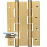 Pendeltürband doppelt wirkend, Rollen ø 16 mm, Höhe 180 mm, Alu gold eloxiert