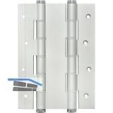 Pendeltürband doppelt wirkend, Rollen ø 16 mm, Höhe 180 mm, silber eloxiert