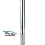 Tischfuß-Abdeckhülse Zoom zylindrisch ø 60 mm, Stahl Edelstahl Effekt