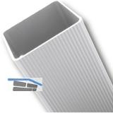 Tischfuß Quadrata 62x62 mm, Länge 700 mm, Aluminium gerillt