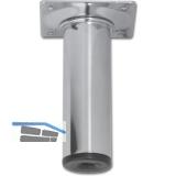 Möbelfuß Rundrohr ø 30 mm, Länge 100 mm, Stahl verchromt