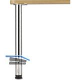 Tischfuß Zoom zylindrisch ø 60 mm, Länge 1100 mm, Stahl Edelstahl Effekt