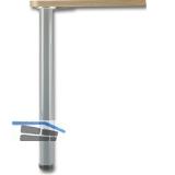 Tischfuß zylindrisch ø 50 mm, Länge 700 mm, Stahl verchromt