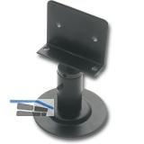Trennwandstütze Winkelauflage, Bodenabst. 60-80 mm, Aufl. 17 x 65 mm, schwarz