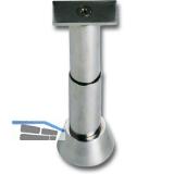 Trennwandstütze gerade, verstell. Bodenabst. 100-125mm, Aufl. 19x55 mm,Edelstahl