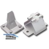 Türhalter m. Federhalter, Wandabstand 45 mm, Aluminium silber eloxiert