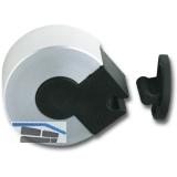 Türhalter mit Kunststoffklemm-Mechanismus und Puffer, Höhe 25 mm, silber elox.