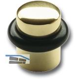 Bodentürpuffer  - ø 25 mm, Höhe 30 mm, Anschlag Gummiring, Messing poliert