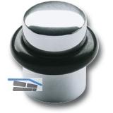 Bodentürpuffer  - ø 25 mm, Höhe 30 mm, mit Gummiring, silber eloxiert