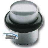 Bodentürpuffer  - ø 25 mm, Höhe 30 mm, Anschlag Gummiring, Edelstahl matt