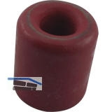 Wand-u. Bodentürpuffer  - ø 30 mm, Höhe 30 mm, Gummi rot