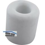 Wand-u. Bodentürpuffer  - ø 30 mm, Höhe 30 mm, Gummi weiß