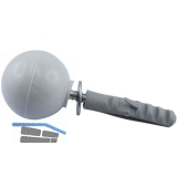 Türpuffer - Kugelform Kunststoff grau