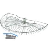 VAUTH-SAGEL Schwenkkorb - Set, Länge 700 mm, Stahldraht/KS silber RAL 9006