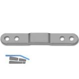 Verbindungsplatte für Küchentüren, Bohr ø 4 mm, gekröpft