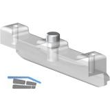 SUPRA Anschlagdämpfer/Aushängesicherung, Glasstärke 8, Kunststoff transparent