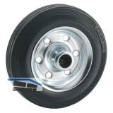 Vollgummi-Rad  80 x 25 x 12 mm mit Rollenlager Nabenbreite 39 mm