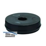 QuickClick Basisteil zum Anschrauben ø 30 mm, Höhe 5 mm, Kunststoff schwarz