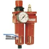 Druckluft Wartungseinheit mit Filter, Regler und Öler Anschlussgewinde 1/2\
