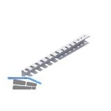 Werkzeughalter-Leiste 11412, doppelt, Stahl, weiß (ähnlich RAL 9003)