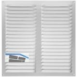 Wetterschutzgitter mit Fliegenschutz, 320 x 320 mm, Aluminium natur eloxiert