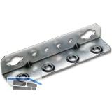 Winkel-Bettschiene SYSTEM 32, L 130, Stahl verzinkt