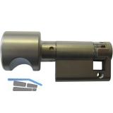 Knaufhalbzylinder MS00/Z1, 30 mm, Messing vernickelt matt