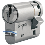 Einbauhalbzylinder key Tec RPE, Lagerprogramm, 30 mm, Messing matt