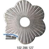 Zierrosette (Pfettenscheibe) ø 80x4 mm, Bohr-ø 17 mm, Stahl verzinkt (B)