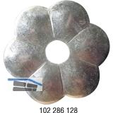 Zierrosette (Pfettenscheibe) ø 80x4 mm, Bohr-ø 17 mm, Stahl verzinkt (C)