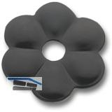 Zierrosette (Pfettenscheibe) ø 50x3 mm, Bohr-ø 13 mm, Stahl schwarz pulverbesch.