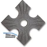 Zierrosette (Pfettenscheibe) 70x70x4mm, Bohr-ø 13 mm, Stahl schwarz pulverbesch.