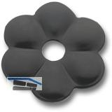 Zierrosette (Pfettenscheibe) ø 80x4 mm, Bohr-ø 13 mm, schwarz pulverbesch. (C)
