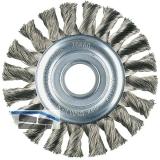 LESSMANN Zirkular Drahtbürste gezopft  115 x 12 x 0.50 mm Stahldraht