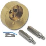 JuNie 7638 ASS Verlängerung für Zylindereinsatz L 12 mm, Messing blank