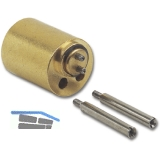 JuNie 7638 ASS Verlängerung für Zylindereinsatz L 17 mm, Messing blank