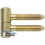 Anuba Einbohrband, Band-ø 11 mm, Stahl vermessingt