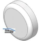 BLUM CLIP top Topfabdeckung - Glastürscharnier rund, Kunststoff matt vern.