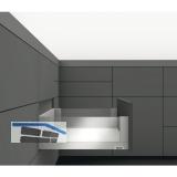 BLUM LEGRABOX free SET H C, TIP-ON, 40kg, NL 350, INOX