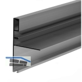 Griffleiste zum Einnuten breit, L - 2600, Aluminium silber eloxiert