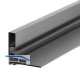 Griffleiste zum Einnuten Aussen schmal, L - 2600, Aluminium silber eloxiert