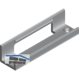 PS10 Clipteil Befestigung der DoppeL - Laufschiene, Einnuten, Kunststoff schwarz