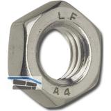 DIN 439-2 M10 Edelstahl A2 flache Sechskantmutter