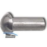 DIN 660 3x  8 Aluminium blank Halbrundniete