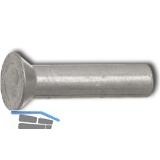 DIN 661 4x 12 Aluminium blank Senkniete