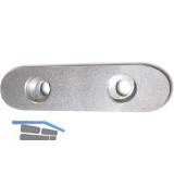 DIN6885E C45K 16x10x 70 blank Passfeder rundstirnig mit 2 Bohrungen