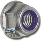 DIN6926 M 5 Edelstahl A2 Sechskantmutter mit Flansch und Polyamideinlage