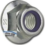 DIN6926/ 8 M10 verzinkt Sechskantmutter mit Flansch und Polyamideinlage