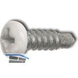 DIN7504M 3.5x9.5 Phillips-KS Kopf RAL9010 weiß beschichtet ~ISO15481